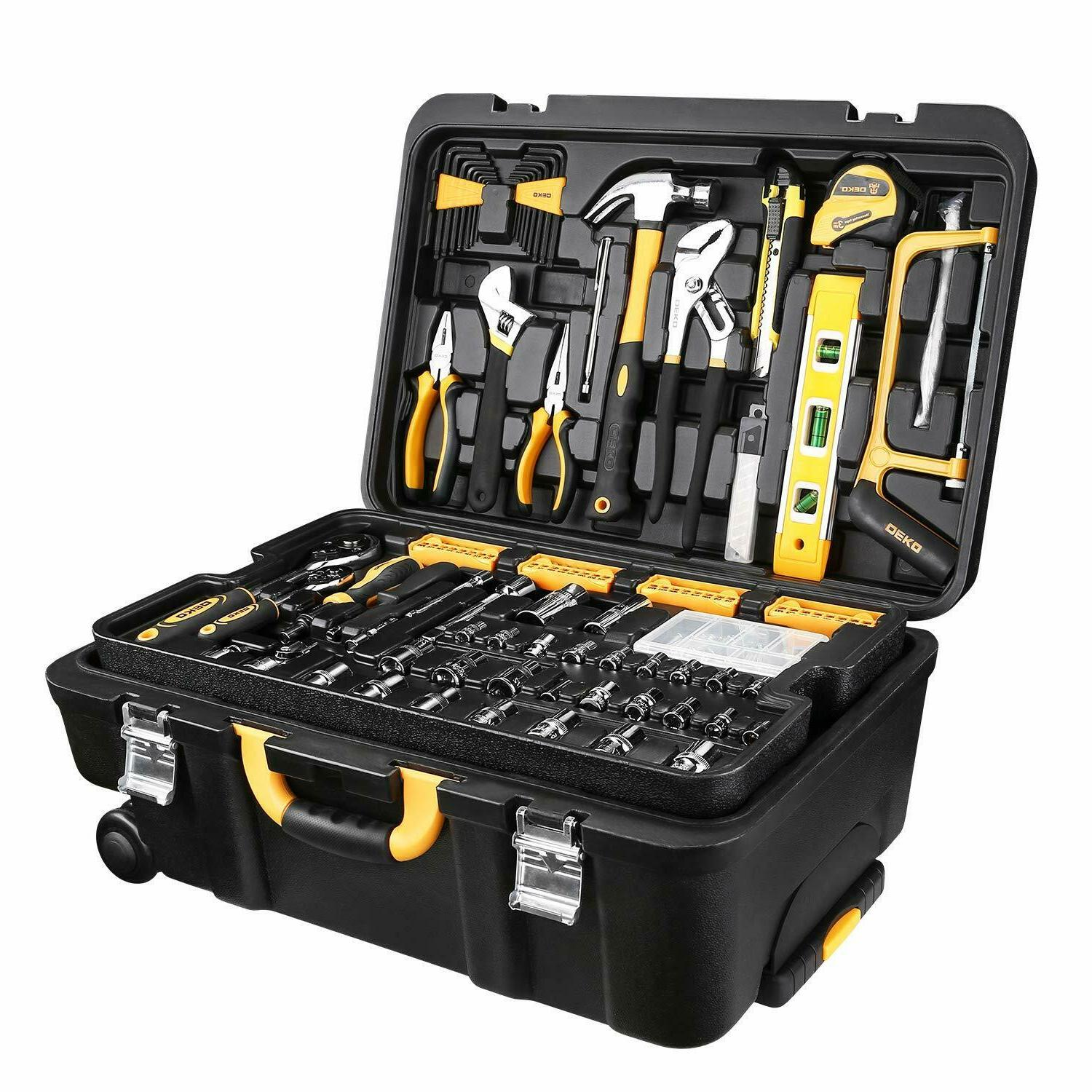 258 piece tool kit socket wrench hand