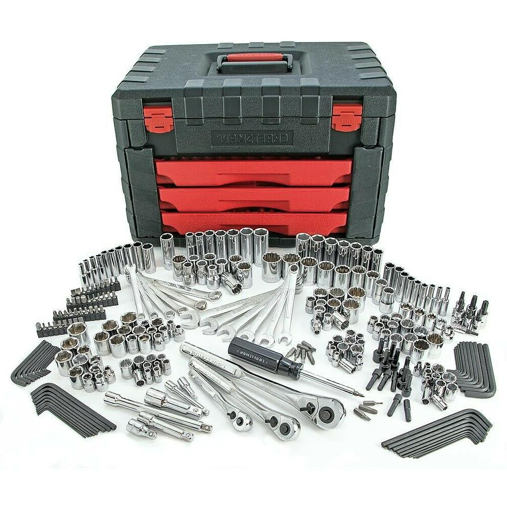 Craftsman 270PC Mechanics Tool Set with 3 Drawer Tool Box Ch
