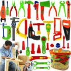 34 Pcs Pretend Tools Toys Plastic Repair Set Baby Kids Boys