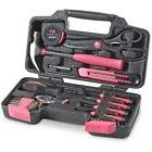 39 Piece Pink Tool Set Household Kit Womens Ladies Hand Tool