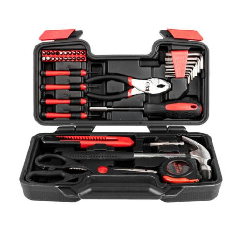 39pcs Tool Set Home Hand Tool Set Kit Household Mechanics wi