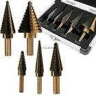 5pcs Imperial HSS Cobalt Drill Bit Set 50 Sizes Step Tools M