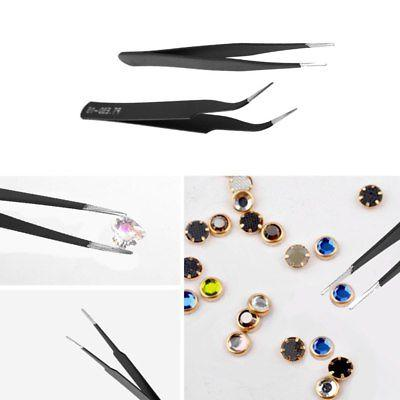 6pcs Stainless Industrial Safe Tweezers Set