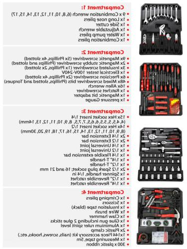 799 PCS Hand Tool Set Socket Trolley Keys