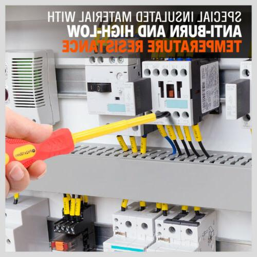 8pc Electrician's Insulated Electrical Screwdriver Set