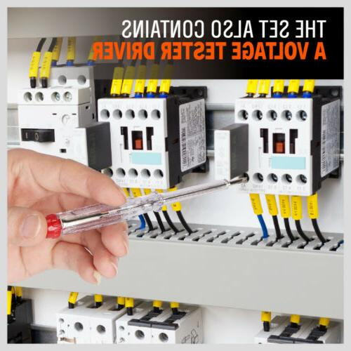 8pc Electrician's Electrical Screwdriver Set