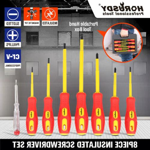 8pc electrician s insulated magnetic electrical hand