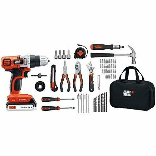 Black Decker 120 Piece Set 20-Volt MAX Drill and Project