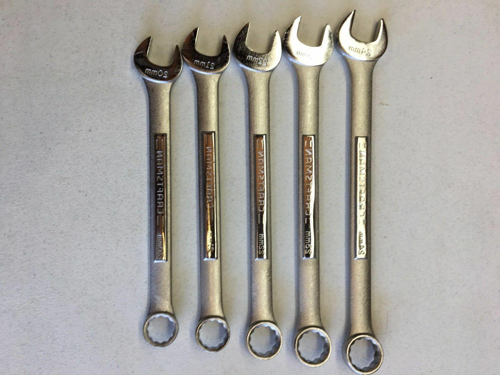 Craftsman 5 PC Large 12pt Combination Wrench Set Metric MM