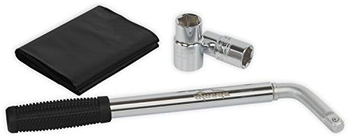 17//19, 21//22mm Wheel Wrench with CR-V Sockets 1X Car Telescoping Lug Wrench