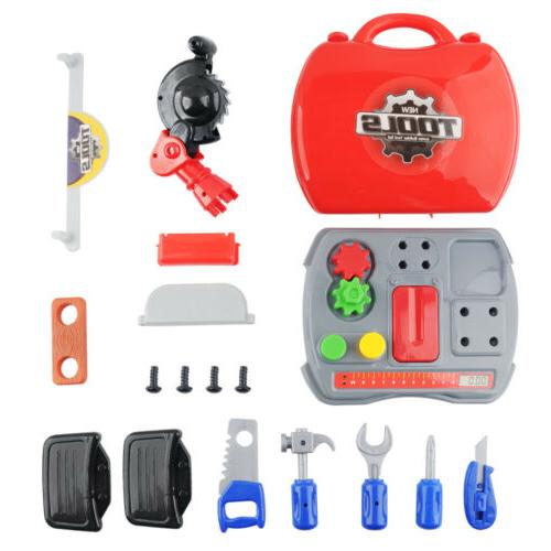 Kid Pretend Play Repair Tool Kit Set For Children Plastic Ed