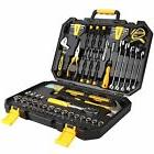 Tool Set 128 Piece Kit General Household Hand Auto Repair Pl
