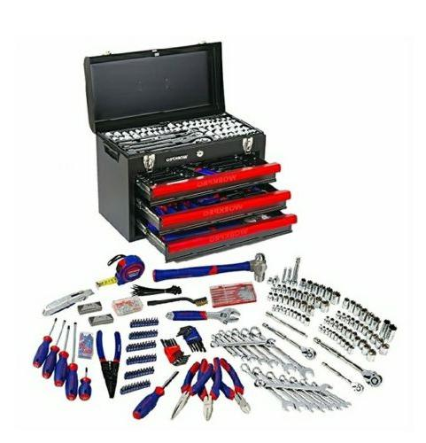Workpro Mechanics Tool Set 408 Pieces with 3 Drawer Heavy Du
