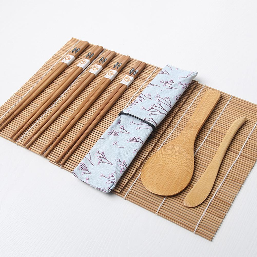 Bamboo Mats Maker <font><b>Tools</b></font> Rice 5 Pairs With Bag Non Toxic Practical
