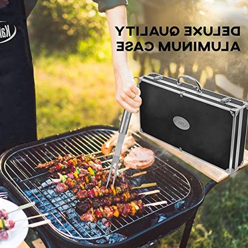 kaluns 21 Heavy Tools, tools for barbequing, Professional Expert, Complete Outdoor