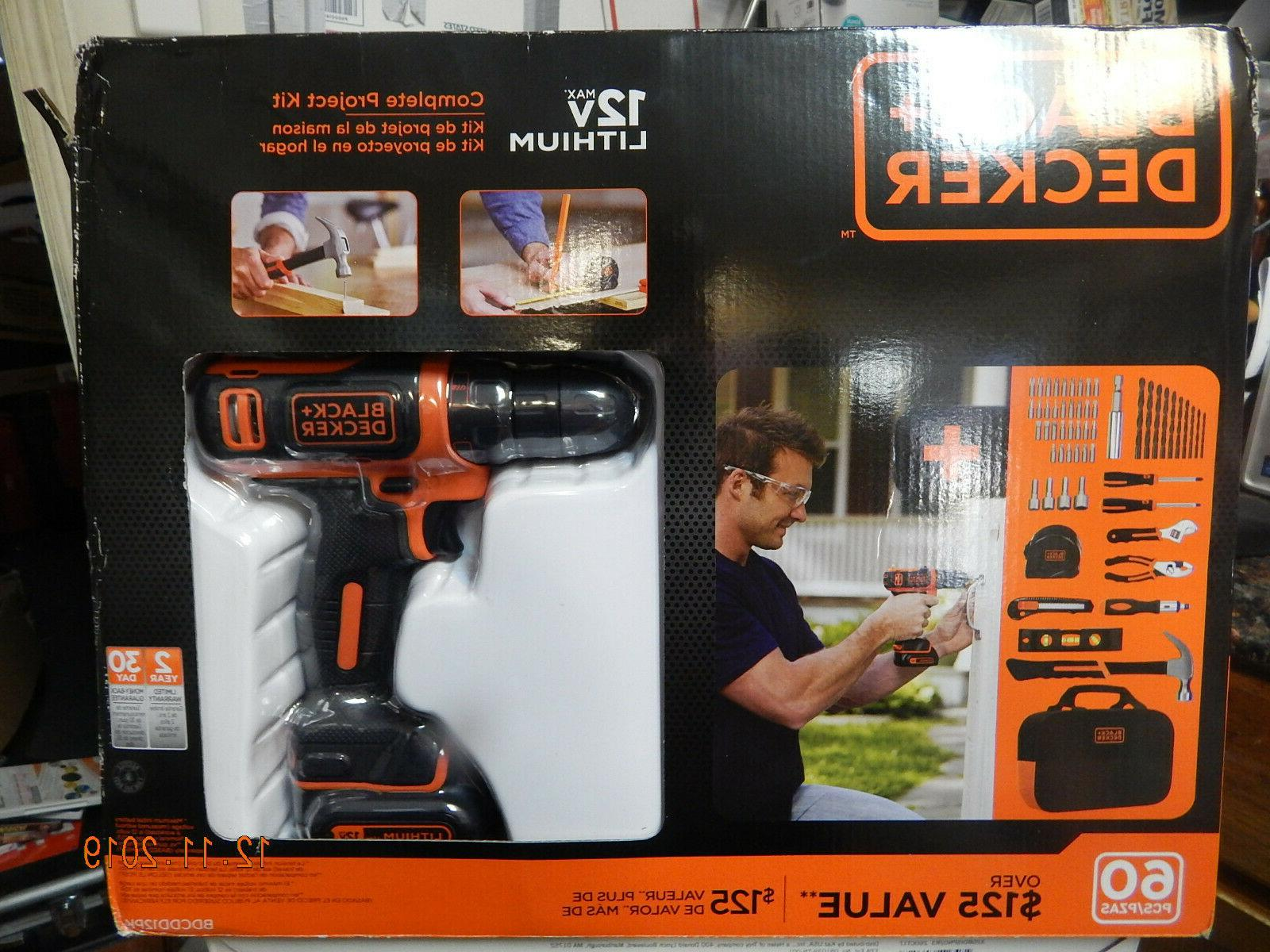 black decker max drill project