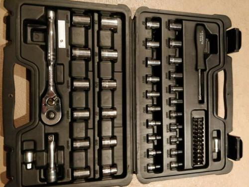 """Brand New Stanley STMT82699 60-Piece Tool 1/4"""" 3/8"""" Drive"""