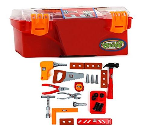 Toysery 24 Pieces Kids Toy - Tool Kit with Handy Lightweight - Educational Toy and Best