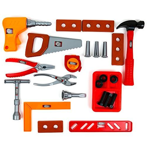 Toysery Kids Toy - Fun Tool Kit For Kids, with Handy Lightweight - Educational Best Gift