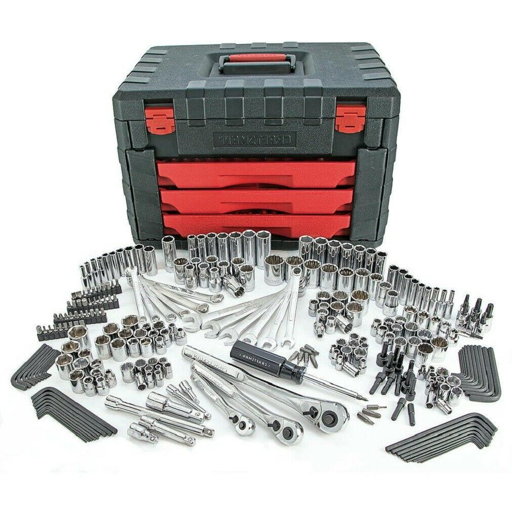 Craftsman 270pc Mechanics Tool Set w/ 3 Drawer Tool Box Ches