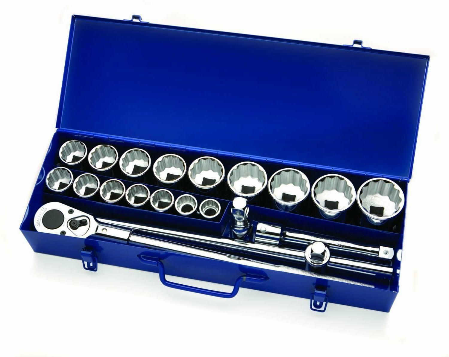 "Williams 33901 20 Pieces 3/4"" Drive Socket Set in Metal Box"