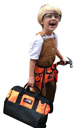 My Tool Set Steel Tools for Children Toolbelt Tools Kids Real Tools for Boys Set Girls Tools for Small Hands