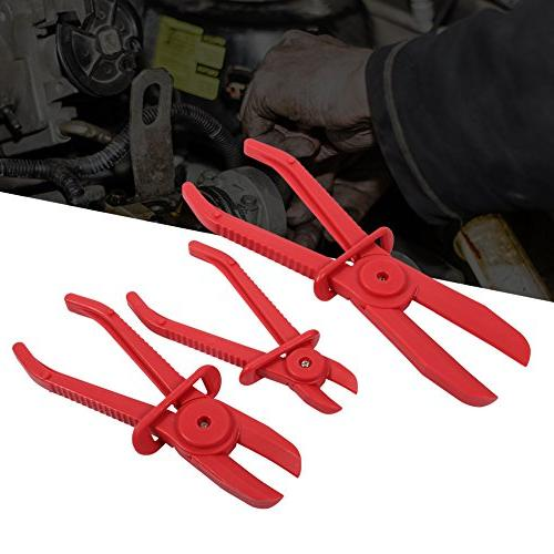 3 Pcs Flexible Hose Line Clamp Brake Clamp Clamp Tool Hose Off Pliers Set Mixed Sizes