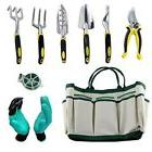 Garden Tool Sets 9 piece Rust Proof, Tote, Garden Gloves, Gi