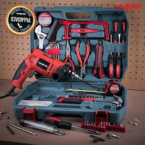 Drill 130pc Set Combo Kit with Hacksaw, Pl