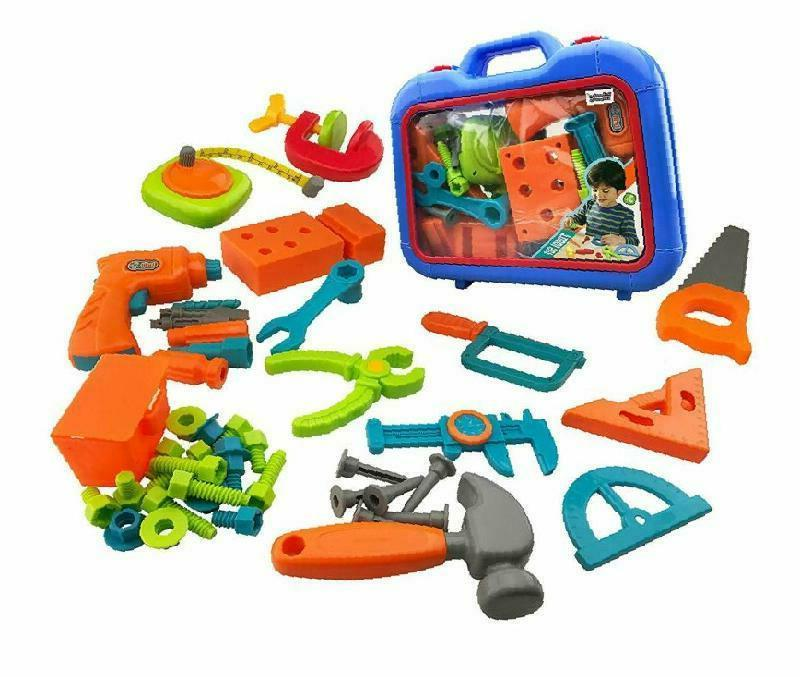Kids Boys Toys Tool Sets Play Toolbox with Electronic Cordle