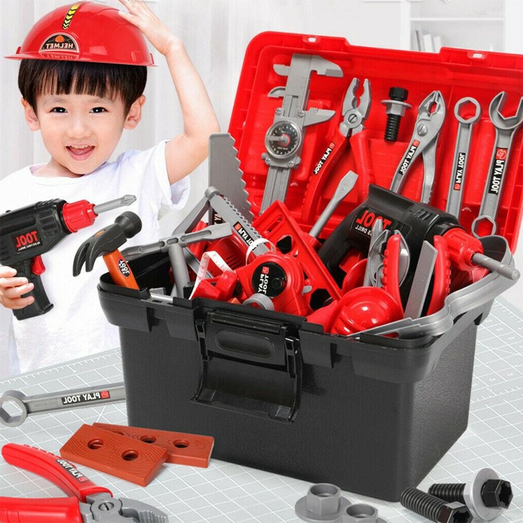 Kids Tool Toy Construction Toolbox Pretend Toys With Electri