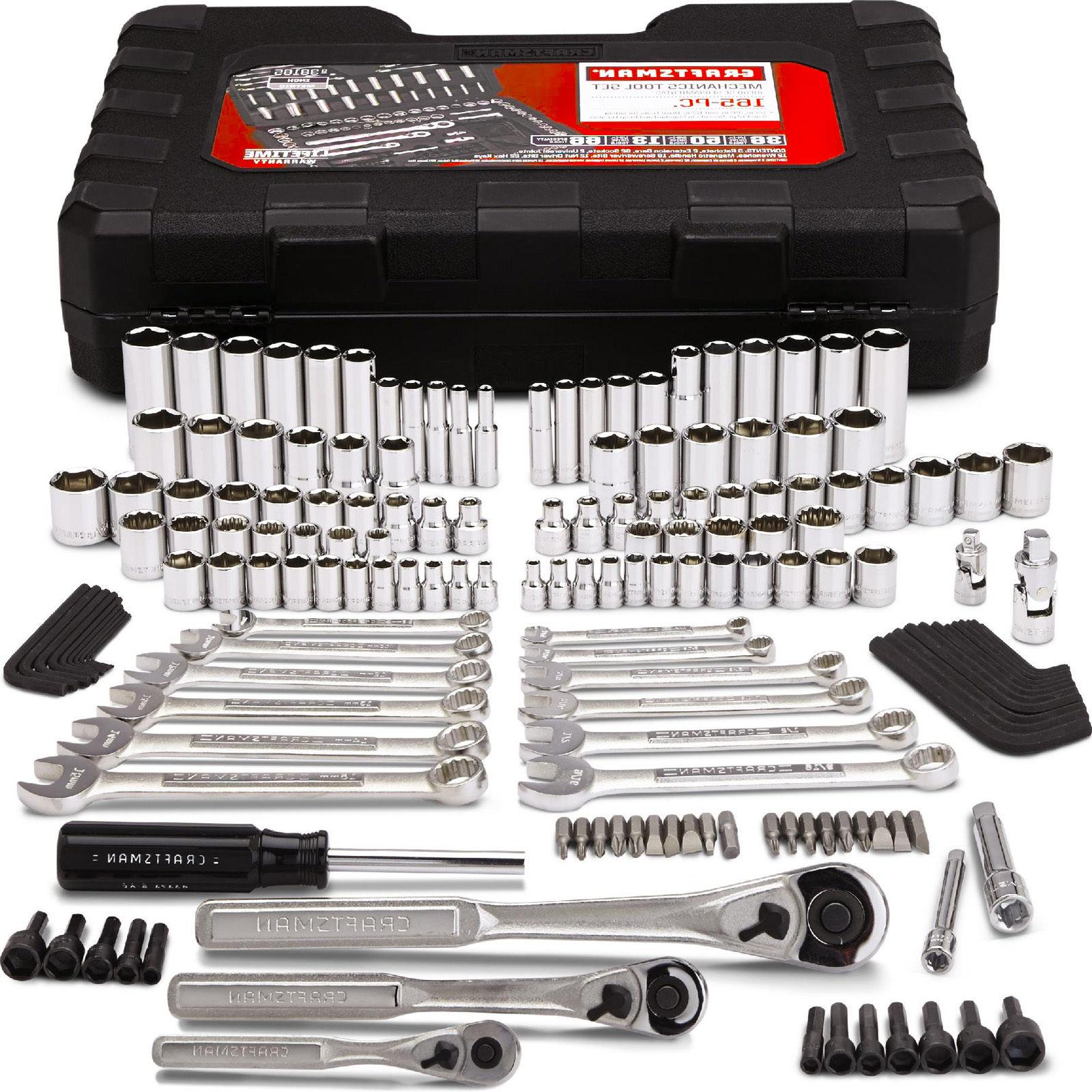 Craftsman 165 pc Mechanics Tool Kit Wrench Socket