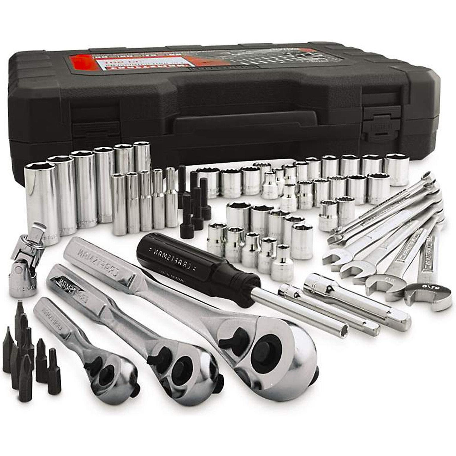 Craftsman Piece pc Mechanics Tool Set Kit Socket