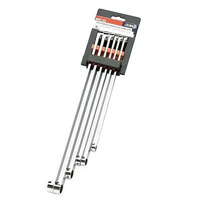 Genius Tools - 6 Piece Metric Extra Long Box End Wrench Set