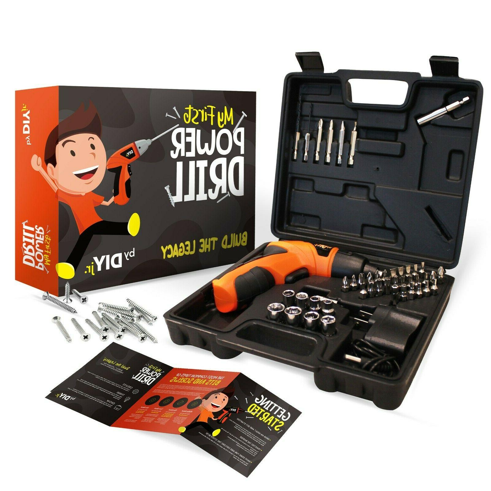 my first power drill set with case