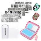 BORN PRETTY Nail Art Stamping Plates with Holder Case Stampe