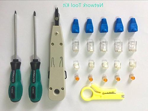 Network Cable Repair Tool Kit Set in 1 Cable 8P8C 6P6C Cat5 Cable