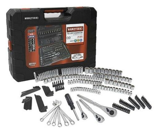 New Craftsman 230 Mechanics Tool Set Socket Wrench Set W/Cas