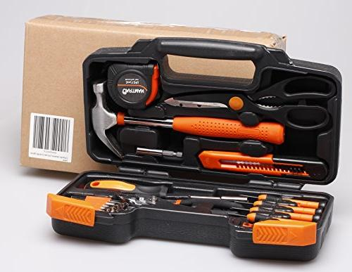 CARTMAN Orange Tool Set Hand Kit Plastic Toolbox