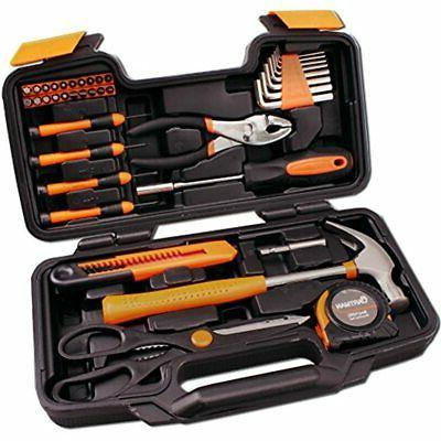 CARTMAN Set - Hand Tool Kit with Plastic Toolbox Storage