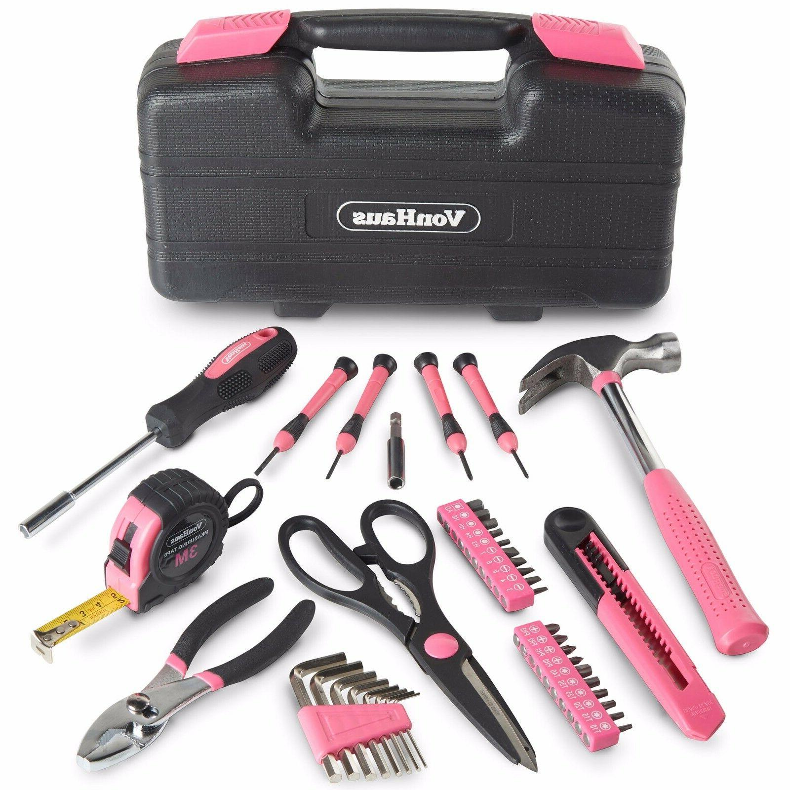 VonHaus Pink Tool General Kit with Case
