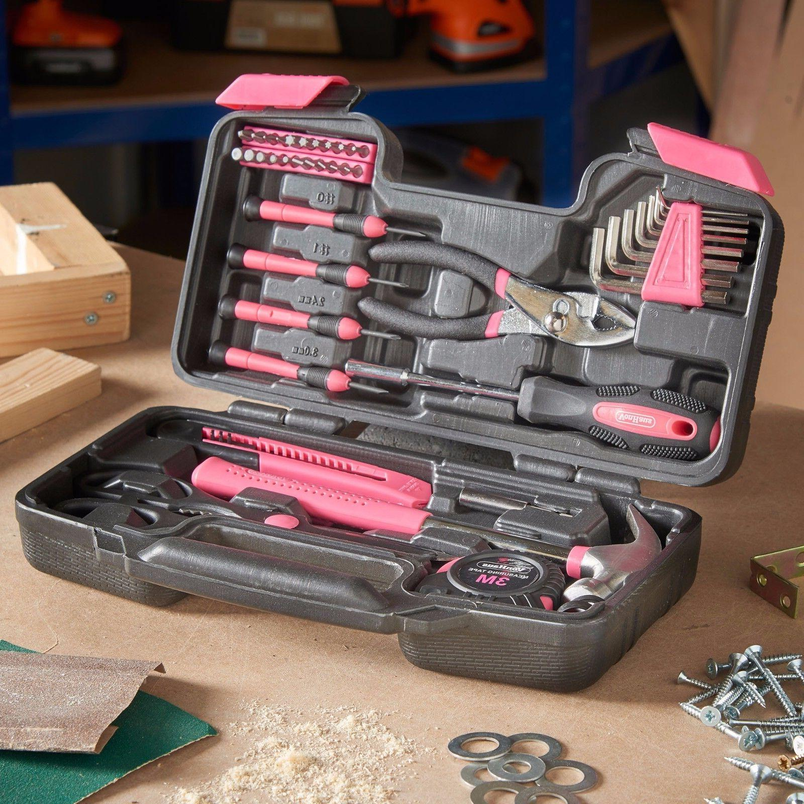 VonHaus Pink 39 Piece Tool General with