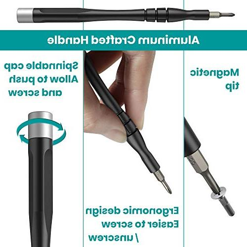 Precision Set in Magnetic Driver Bit Klearlook Pocket Screwdriver Tool Repair Electronics Cellphone iPad Tablet