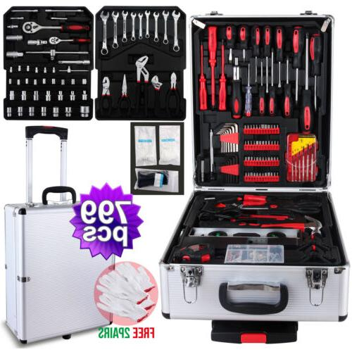 799 Tool Trolley Kit Case Organize Castors