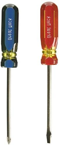 Great Neck Saw 2 Piece Slotted & Phillips Screwdriver Set G2
