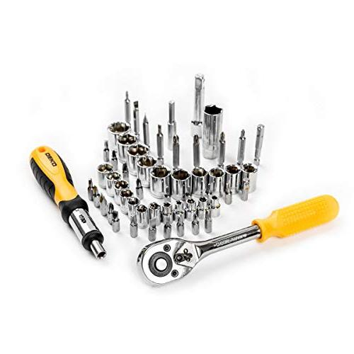 DEKOPRO 168 Wrench Auto Repair Combination Package Set Hand Kit with Case