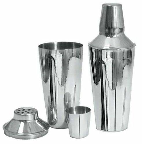 STAINLESS STEEL BAR COCKTAIL SHAKER DRINK MIXER SET Bartende