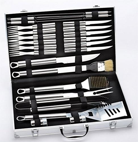 stainless steel bbq set