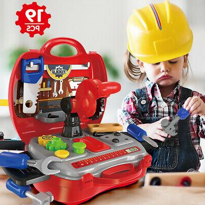 Kids Pretend Play set Toys Construction Tool Repair Work Pla