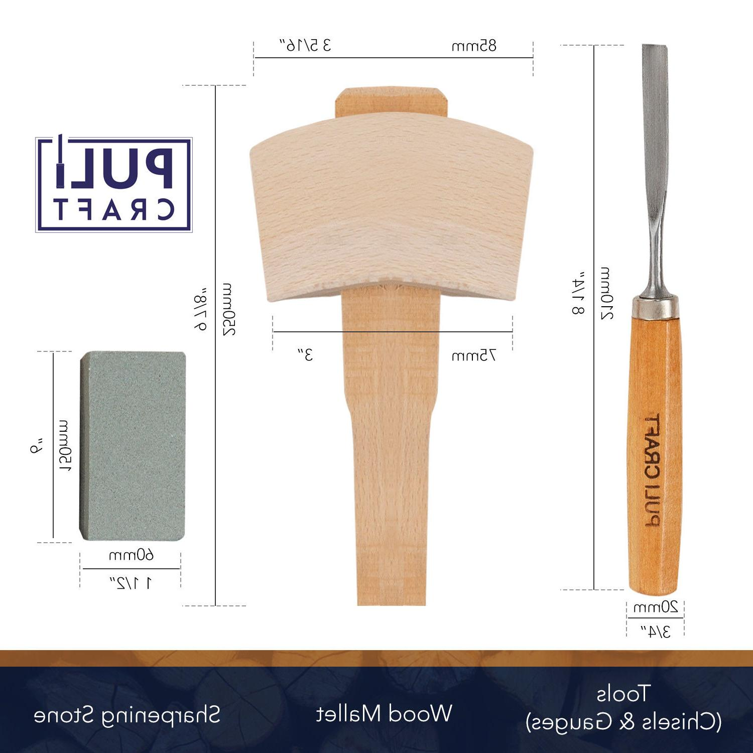 Wood Carving Tools Set Heavy Duty with Carry
